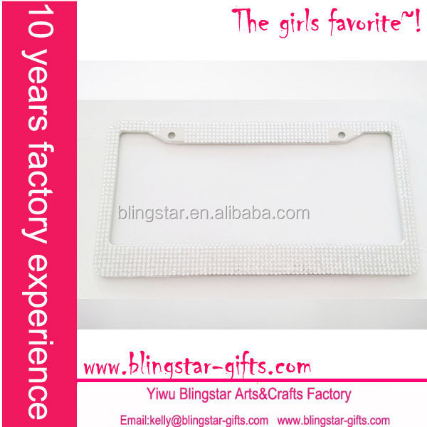 bling bling license plate frame