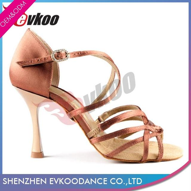 Evkoodance Tan Color Women Latin Tango Dance Fashion Style Girls Shoes