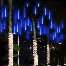 30cm 144 LED Meteor Shower Rain Lights Waterproof 8 Tubes LED Meteor light for Christmas tree or Halloween illumination