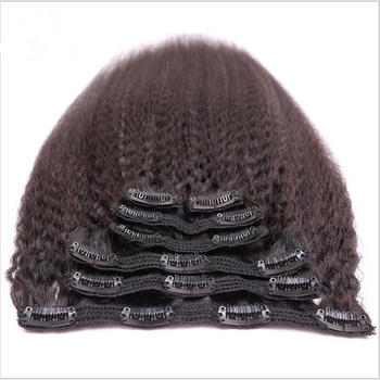 Unprocessed raw virgin brazilian hair online shopping coarse yaki straight clip in hair extension wholesale