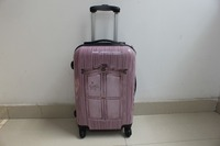 cabin size ABS+PC print picture carry-on suitcase // travle trolley luggage//spinner wheels trolley bag