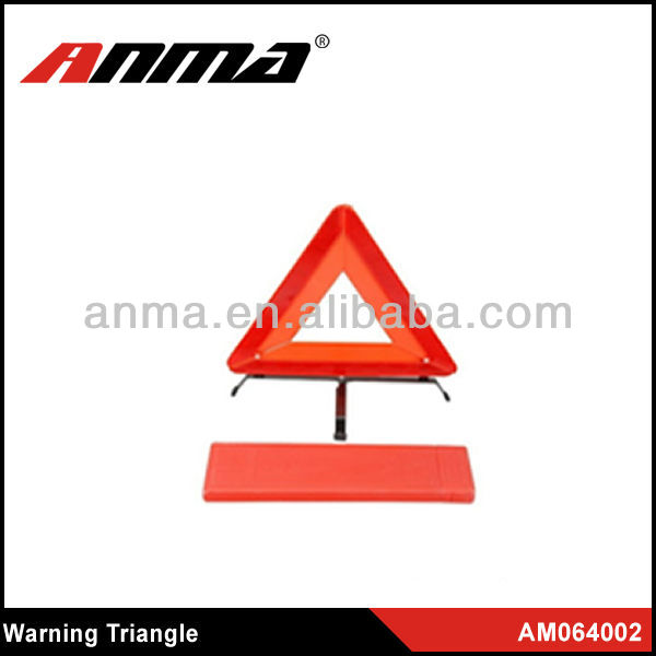 High reflective red warning triangle