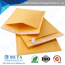 100% recyclable kraft bubble mailer self-seal on the flap
