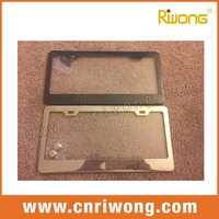 metal chrome stainless steel license plate frames