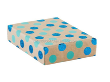 Vivid Wrap Blue Glitter Dot Recycled Kraft Box