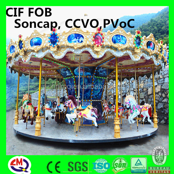 china wholesale high quality colorful carousel used small kids ride children playing items