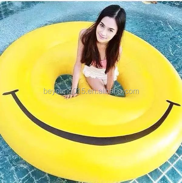 Giant Inflatable emoji Lilo , Smiling Emoji pool float inflatable