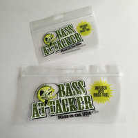 Transparent Soft Plastic Fish Baits Packaging Bag with Euro Slot