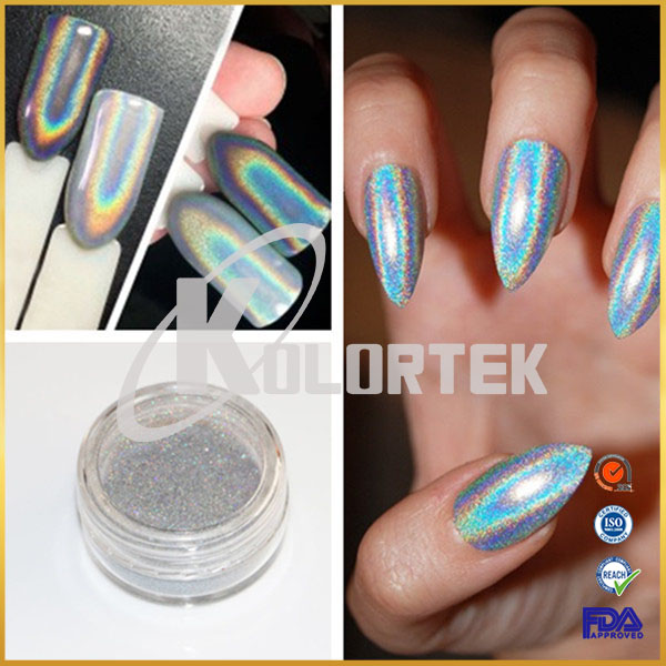 2017 Trend Holographic Pigment Flakes Powder For Nail Art