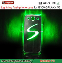 HOT sale LED Sense Flash light Case Cover for Samsung Galaxy S3 SIII i9300 Color Changed Gift