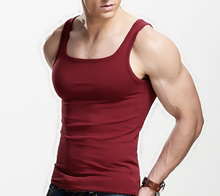 Hot new products for 2015 100% cotton multicolor men's sport vest, tank top, china bulk wholesale clothing