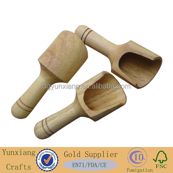 high quality woooden scoop with long handle