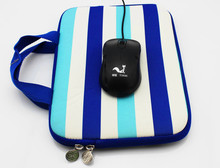 Latest Style Stripe printing laptop bag with PP handle