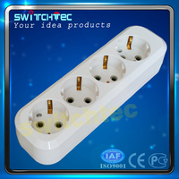 European style 4 way power socket / power strip with wire