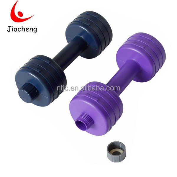 Water plastic dumbbell