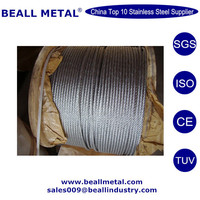 SUS316/304 1*7 7*7 7*19 stainless steel wire rope small diameter