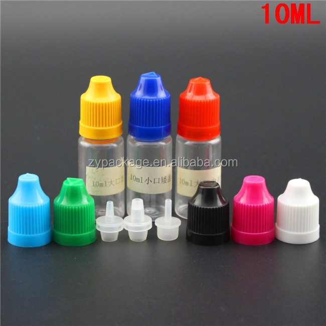 New items clear pet bottle tube on sale,10ml pet dropper bottle with childproof cap for e-cig oil