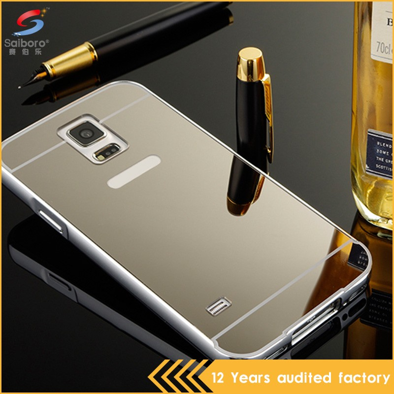 Newest arrival shockproof hot sale mirror view case for samsung galaxy s5