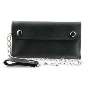 Travel Anti Theft Men's Wallet Heavy Duty Genuine Leather Biker Chain Wallet