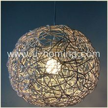 1 Light 35cm Wooven Rattan Pendant Lamp Shade Ceiling Lighting Fixture Rattan Woven Handmade Glass Pendant Lamp