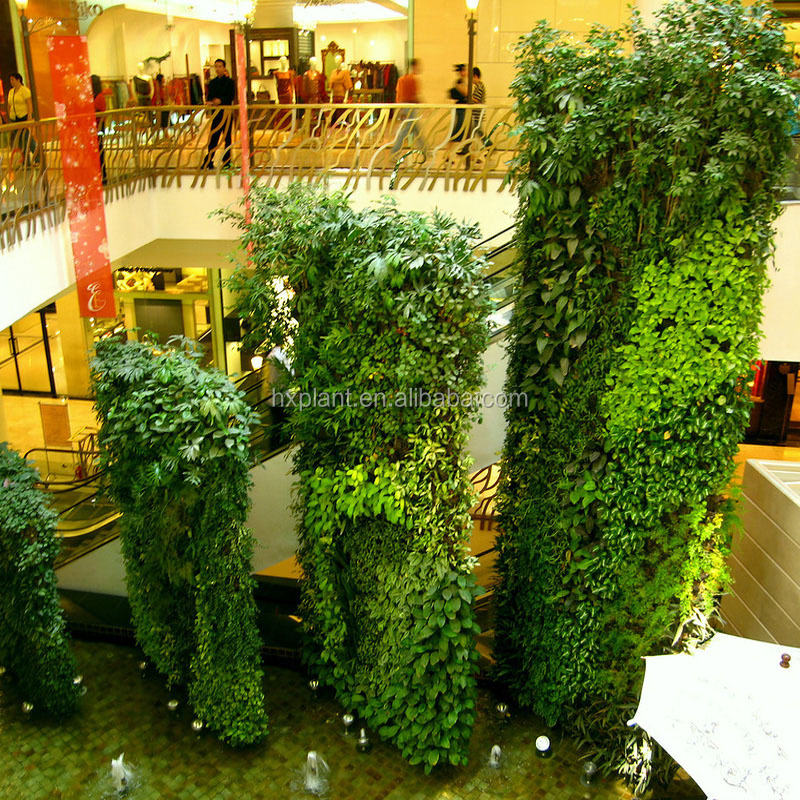 Vertical plant artificial walls plastic green wall vertical wall garden