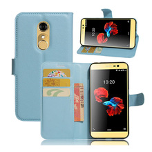 Litchi Pattern Flip PU Leather Case For ZTE Blade A910 Wallet Card Slot Case