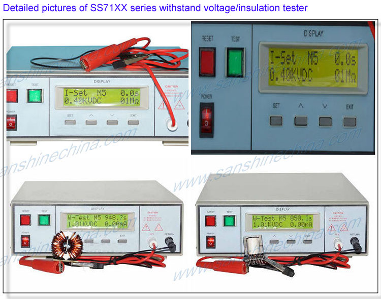 Withstand high voltage insulation HI-POT tester(SS71XX series)