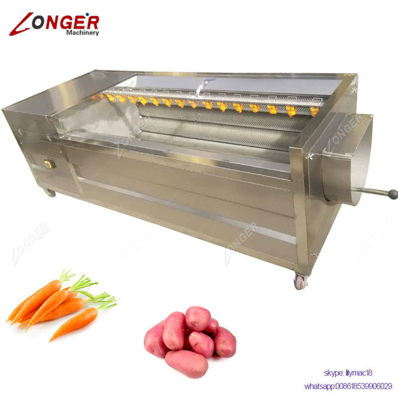 Industrial Vegetable Washer Peeler Spinach Cleaning Potatoes Peeling Sweet Potato Washing Machine
