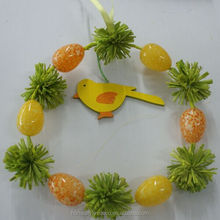 Easter decoration 22cm easter wreath plastic egg wreath with bird