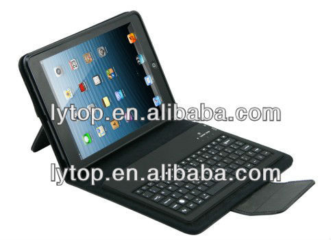 Luxury Blueteeth keyboard tablet case for ipad mini