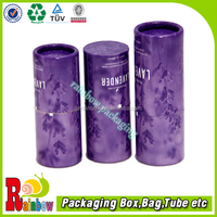 customized 128gsm art paper+paperboard essential oil cylinder boxes