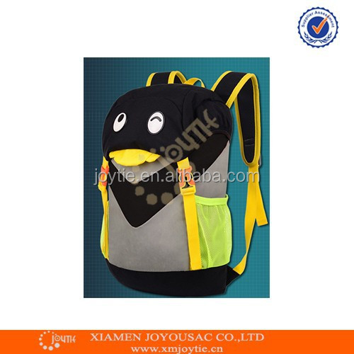 High quality cute cartoon penguin school backpack bag for children