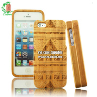 3D Laser Engraving For iPhone 6 Bamboo Case,Ultra-thin Aztec Bamboo Phone Case For iPhone 6 Case