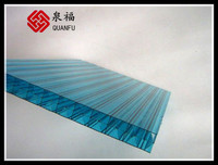 ISO quality guarantee hot sale tinted multiwall polycarbonate sheet