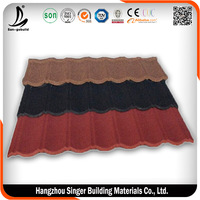 New Construction Material Asphalt Shinle Roof, Stone Coated Roof Cover Metal Sheets