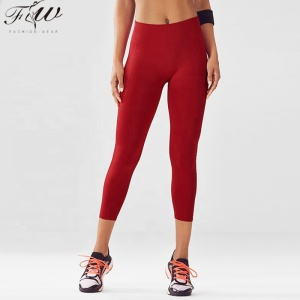 Breathable wear tight exercise capri leggings performance dance pants custom fitness yoga leggings