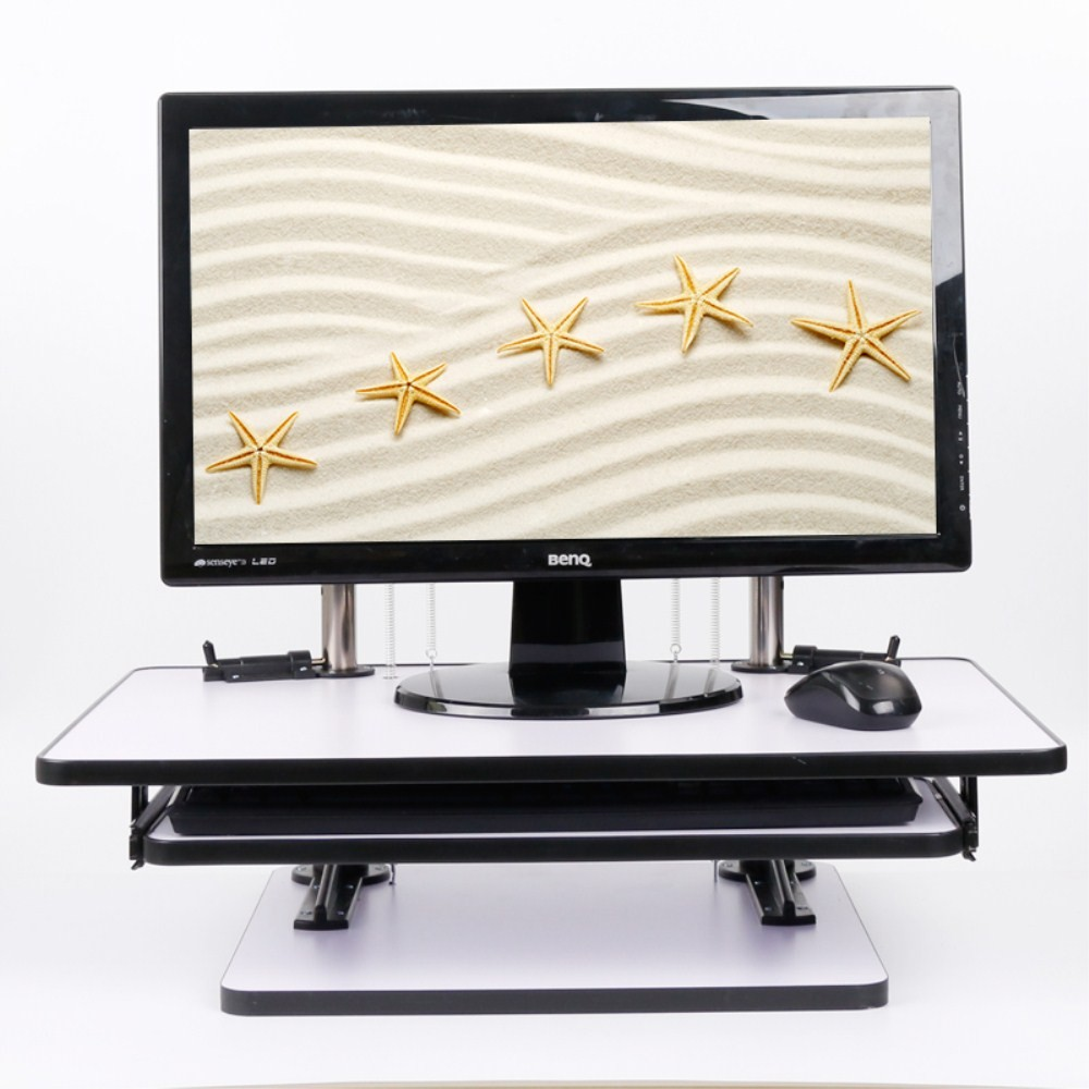Wood Standing Desk Computer Monitor Stand Workstation Sit