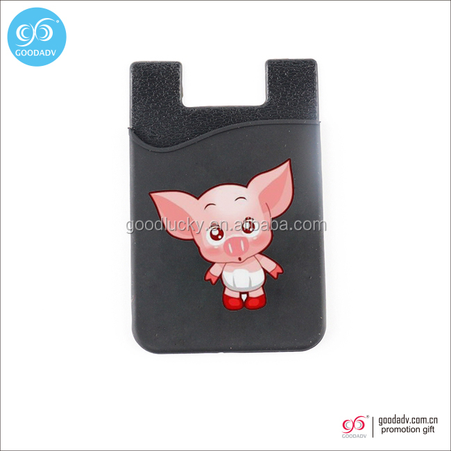 Factory Wholesale free sample fashionable cheap cell phone smart wallet silicone credit card holder