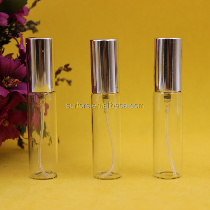 10ml cosmetic packaging personal care industry small galvanized test tube glass bottles