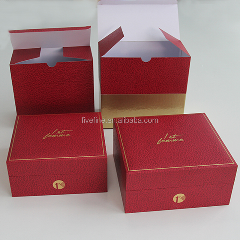 Custom wooden perfume packaging box with Gold stamping Logo