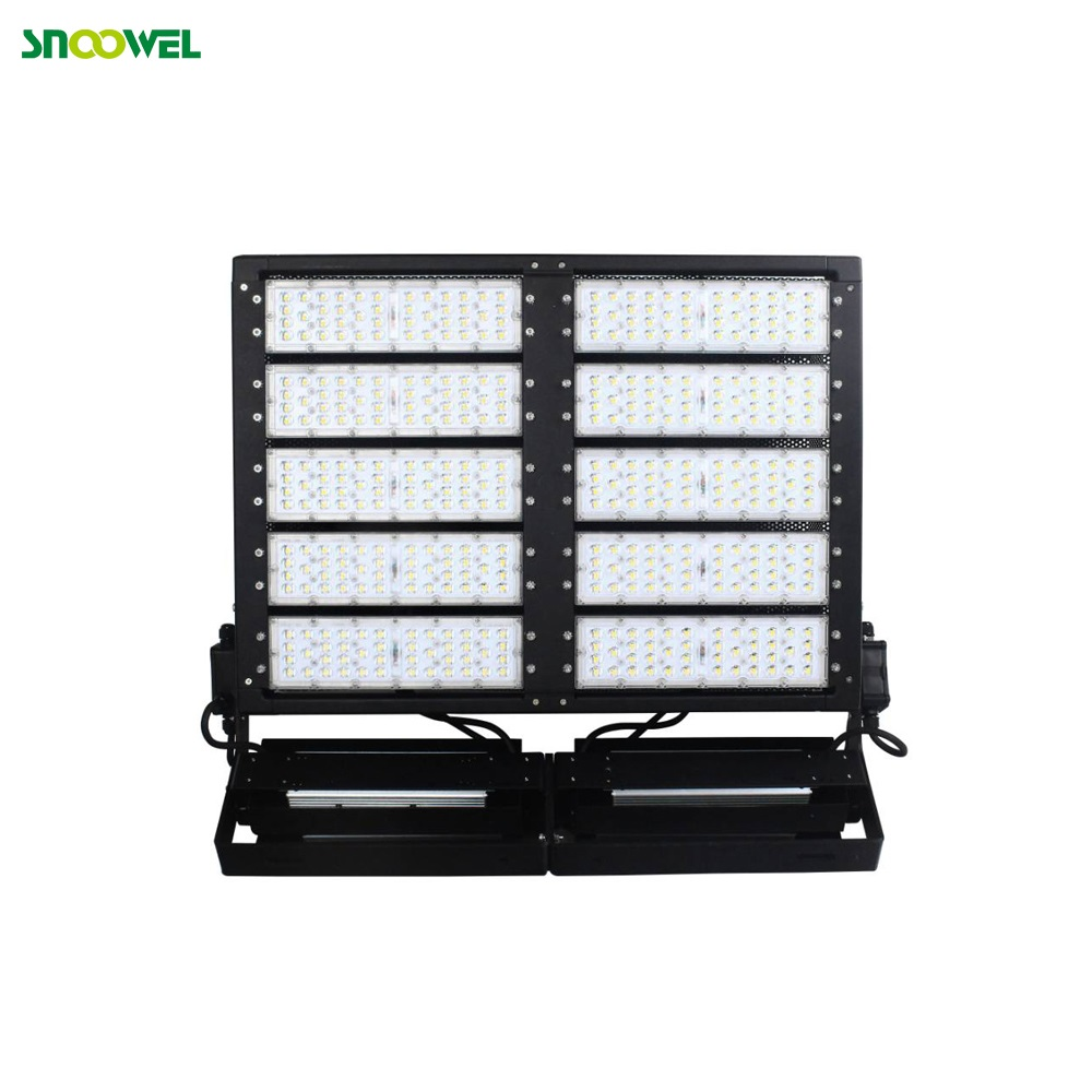 Aluminum heat sink black housing explosion proof led flood light 1000w for construction site