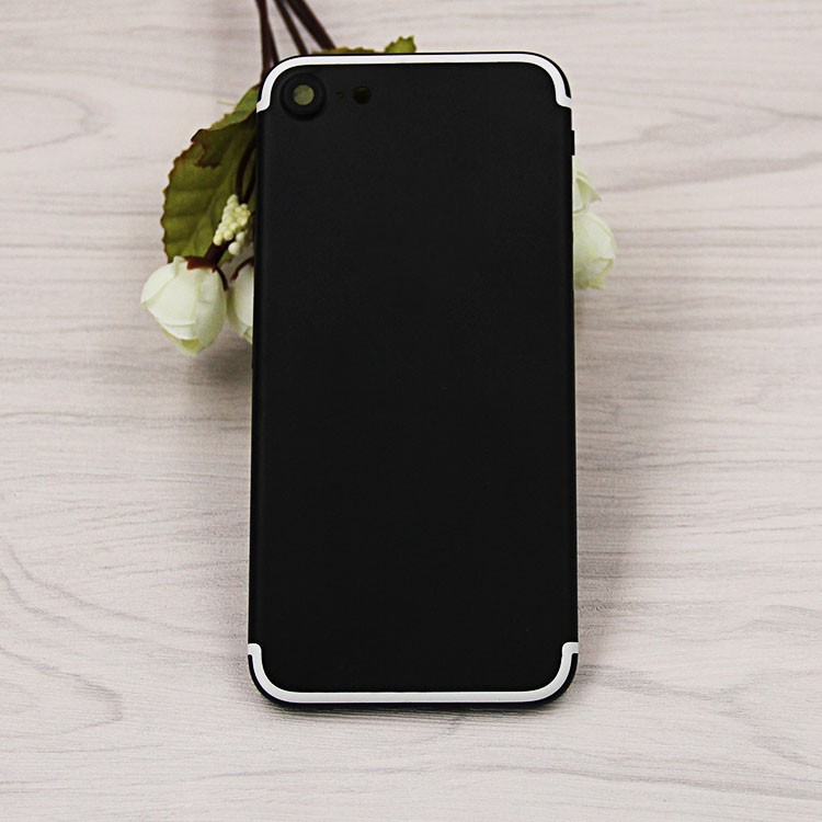 Matte black white line housing for iphone 7 housing custom back cover for iphone 7