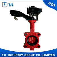 wafer type fire protection butterfly valve DN150