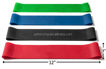 Alibaba 12 inches Latex Elastic Loop Resistance Band For Exercise With Logo