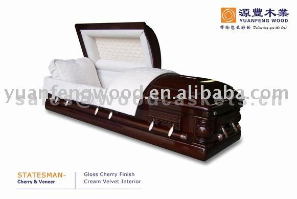 STATEMAN wood veneer caskets burial coffin