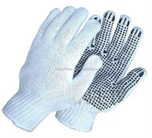 Sunnyhope cheap knitted gloves with pvc dots ,workshop cotton gloves