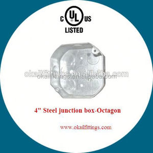 Octagon electrical connector BOX/Standard junction box sizes