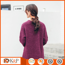 New fashion pure V Neck knitted beautiful lady dress