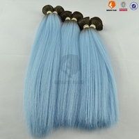 Yaki hair extension Synthetic hair with remy human hair bundles