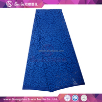 high quality trustwin sequins lace wholesale voile nylon spandex lace fabric for african women royal blue wedding dress